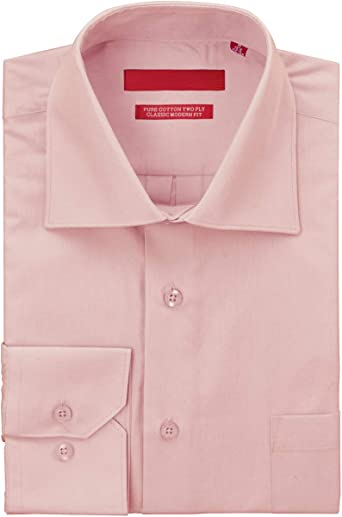 Gino Valentino - Camisa de Vestir para Hombre de algodón Puro ...