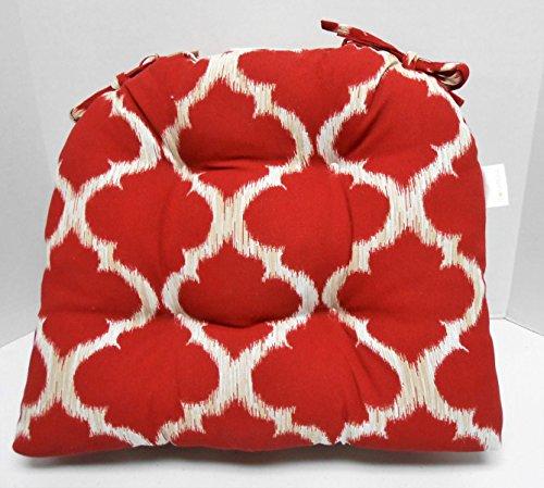 Solarium 2 Pk Padded Seat Cushions W/ties in Kobe Cherry