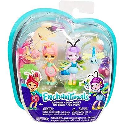 Enchantimals 2-Pack Saxon Snail & Dara Dragonfly Micro Dolls: Toys & Games