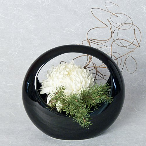 - Ceramic Ikebana Basket Container for Japanese Flower Arranging | Ziji