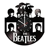 The Beatles Vinyl Record Wall Clock . Get unique home room wall art decor. Cool gift ideas for boys, girls, kids, teens, men and women. For Sale
