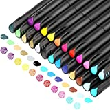 24 Colors Journal Planner Pens Colored Pens Fine Point Markers Fine Tip Drawing Pens Porous Fineliner Pen for Bullet Writing