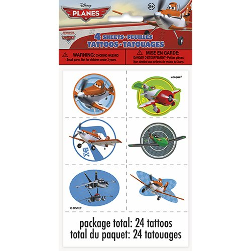 Unique Industries BB44818 Disney Planes Tattoo Favors, 4 She