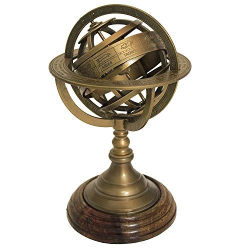 (Armillary Sphere World Globe Table & Studio Decor,Brass)