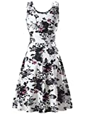 FENSACE Womens A Line Sleeveless Floral Summer Dress
