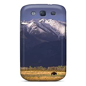 For Galaxy S3 Premium Tpu Case Cover Grazing Bison Sangre De Cristo Range Colorado Protective Case