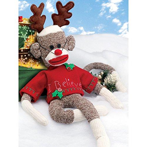 Monkey Sock Embroidery Design (Janlynn Rudy Holiday Sock Monkey Kit, 21-Inch Long)