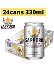 Sapporo Premium Beer Can, 330 ml (Pack of 24)