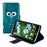 kwmobile? Chic leather case for the LG G2 Mini with convenient stand function - Owl design in Green Blue by KW-Commerce