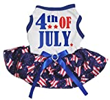 Petitebella Puppy Clothes Dog Dress 4th Of July Blue White Top Stripe Stars Tutu (XX-Large) Review