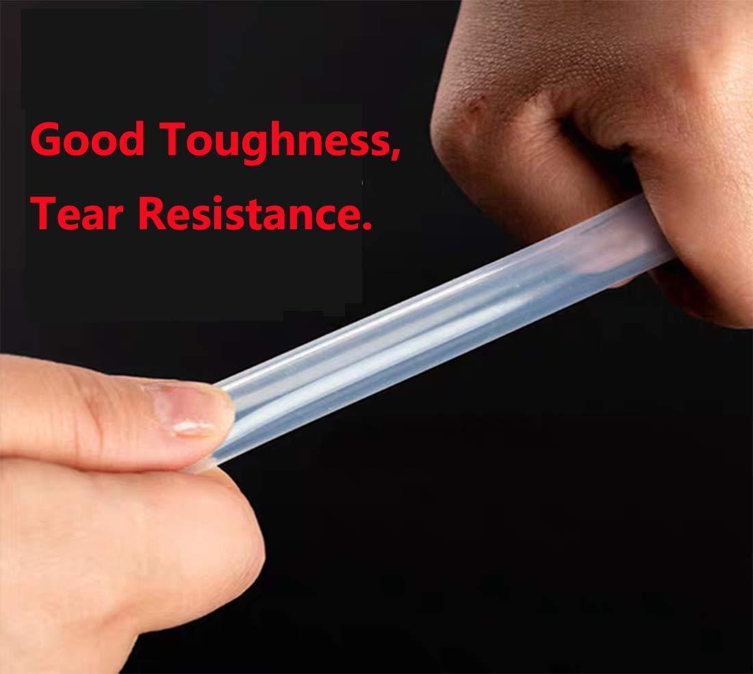Antrella Tubo de Silicona de Grado Alimentario 1.5mm ID x OD 3mm Espesor de Pared 0.75mm Tuber/ía de Agua Manguera transparente 2 Metros de Longitud
