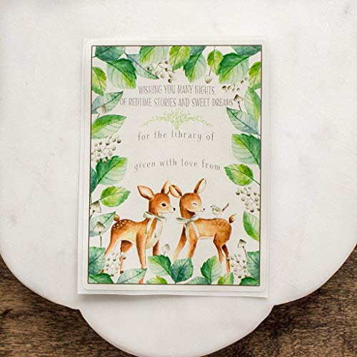 Twin Deer Bookplates for Baby Shower Set of 20