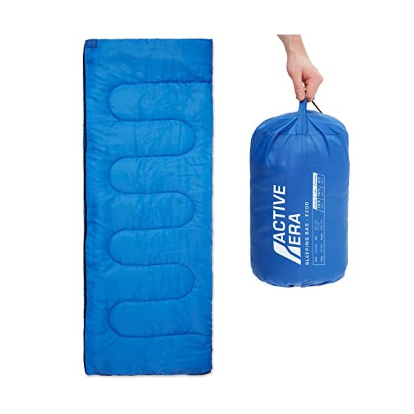 Premium Lightweight Single Sleeping Bag - Warm and Water Resistant, Perfect for Indoor Use or Outdoor Camping, Hiking, Fishing & Travelling 3