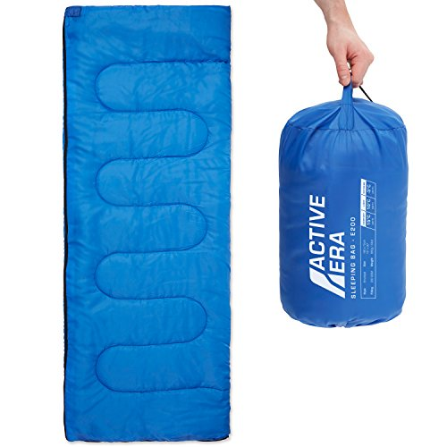 Premium Lightweight Single Sleeping Bag - Warm and Water Resistant, Perfect for Indoor Use or Outdoor Camping, Hiking, Fishing & Travelling ()