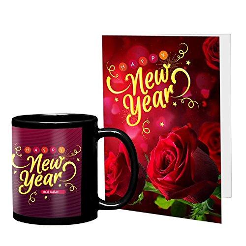VESPL New Year Greeting Message Card Coffee Mug Combo