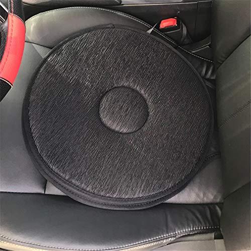 (Car Seat Rotating Cushion, Mexidi Non-Slip Revolving Cushion Swivel Sponge Foam Mobility Aid Chair Seat Cushion (Black))