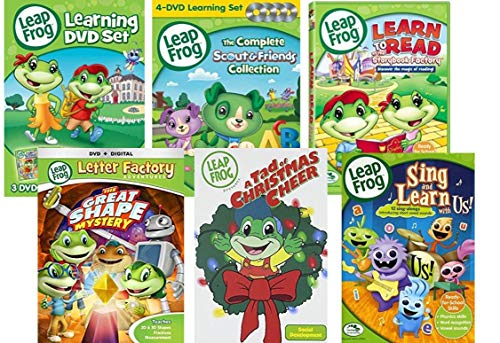 Leapfrog dvd: Learn 11-DVD Mega Pack set + 26 Flash cards (Let's go to school/Letter Factory/ Talking Words factory/Great shape Mystery/Learn to read/ Math Circus/ Phonic Pharms/ A Tad for Christmas) (Leapfrog Word Factory Dvd)