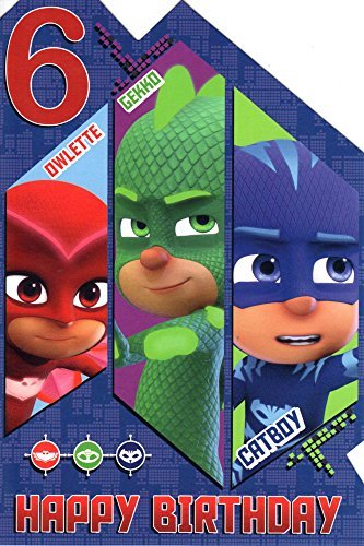 PJ Masks Age 6 Today 6th Birthday Card