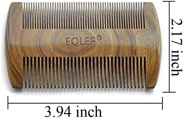 Gr/ünes Sandelholz 13 cm nicht statisch handgefertigt EQLEF/® Kamm