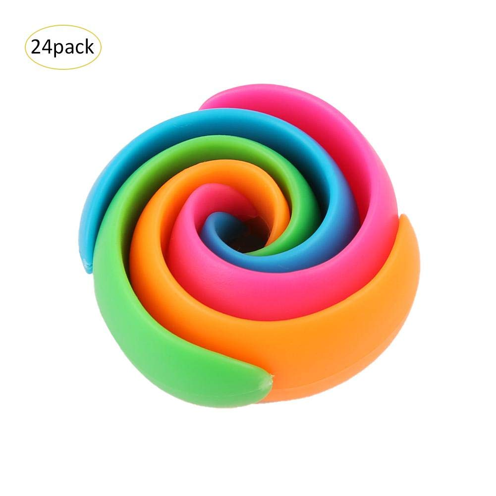 Luerme 24PCS Peels Thread Spool Huggers Fixing Clip Clamp for Sewing Machine to Prevent Thread Unwinding No Loose Ends or Thread Tails