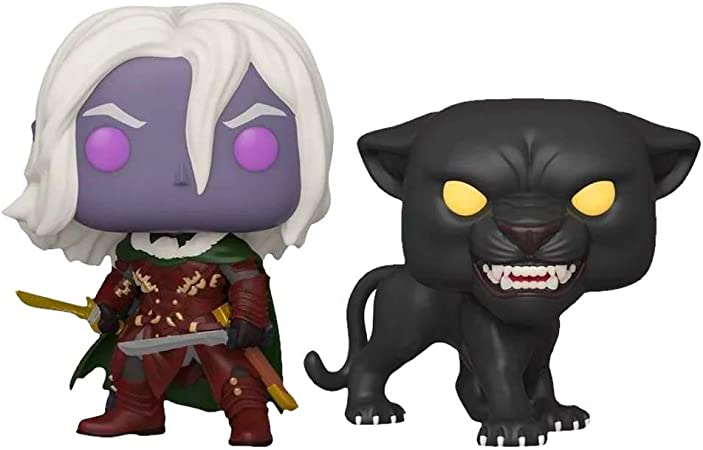 Funko Pop! Games: Dungeons and Dragons Drizzt DoUrden with Guenhwyvar 2 Pack Exclusive Vinyl Figures