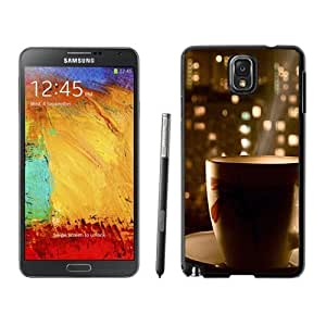NEW Unique Custom Designed For Case HTC One M8 Cover Phone Case With Hot Coffee City View_Black Phone Case