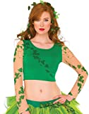 Rubies Womens Poison Ivy Crop Top Shirt