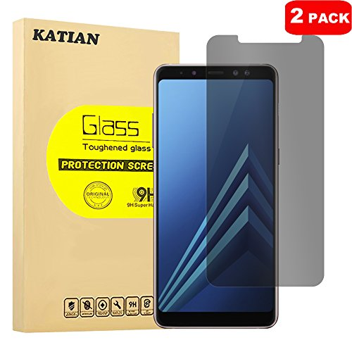 Samsung Galaxy A8 Plus 2018 Privacy Glass Screen Protector, KATIAN 9H Hardness Anti Scratch, Anti-Fingerprint, Non-Bubble Flim for Galaxy A8 Plus 2018