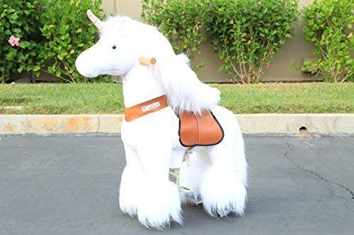 The ORIGINAL Ponycycle Pony Cycle Ride on walking horse without battery - Small White Unicorn 2-5 years old