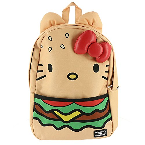 Loungefly Hello Kitty Hamburger Backpack Tan-Multi