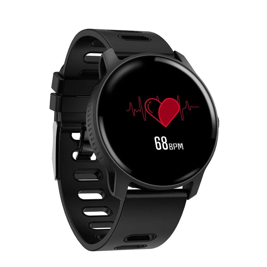 For Android & iOS, Waterproof Sport Smart Watch Fitness Heart Rate Tracker Blood Pressure Calorie Monitor Smart Bracelet (Black) by YNAA (Image #2)