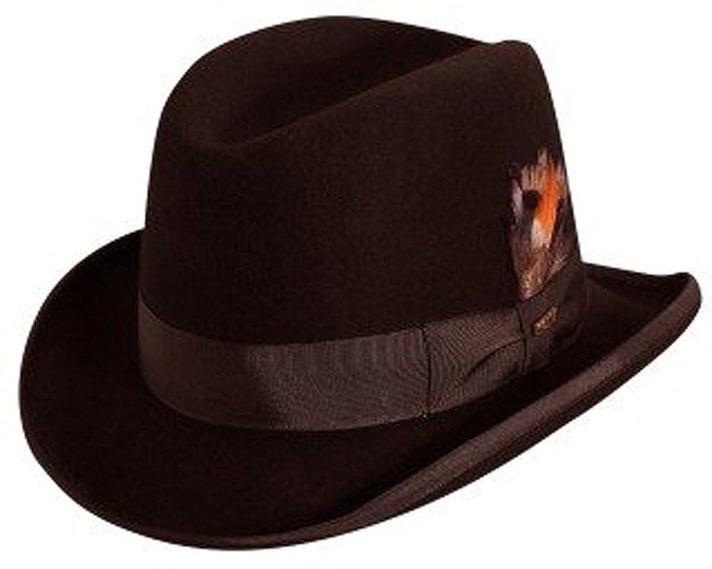 Scala Classico Men's Wool Felt Homburg Hat WF545