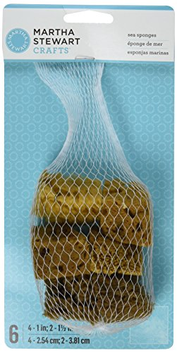 Martha Stewart Crafts Sea Sponge, 32228 (Set of 6)