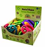 Hohner Kids Musical Shapes Display Box Rattle, 20-Pack