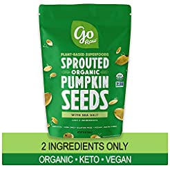 Go Raw Pumpkin Seeds, Sprouted & Organic...