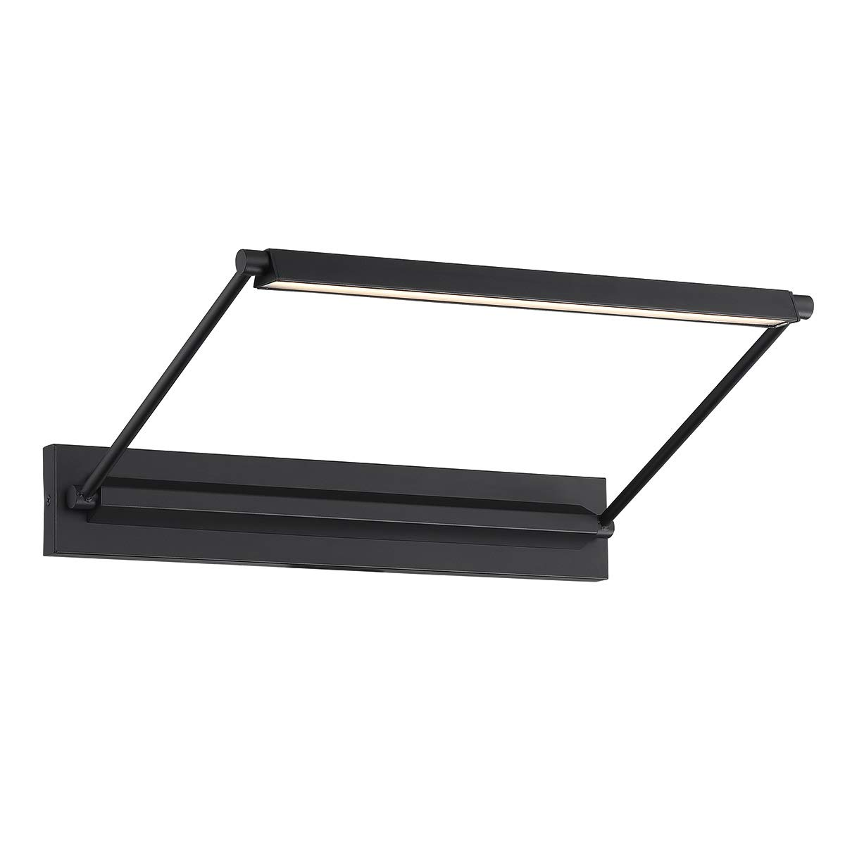 WAC Lighting PL-LED17-30-BK DweLED Hudson 17in LED Picture 3000K in Black Light Fixture, 17 Inches,
