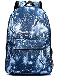 JUSTINCITY Kids Students Lightning Print Backpack Multi Compartments School Bag