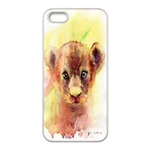 High Quality {YUXUAN-LARA CASE}Powerful Lion For Apple Iphone 5 5S STYLE-4