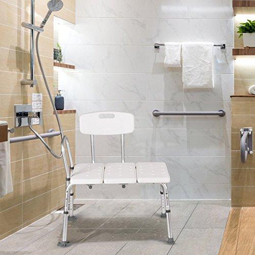 Giantex Shower Bath Seat Medical Adjustable Bathroom Bath Tub Transfer Bench Stool Chair by Giantex (Image #2)