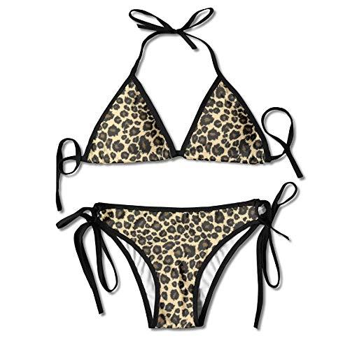 (Animal Leopard Print Design Women's Sexy Bikini Set Swimsuit Bathing Suit Triangle Swimwear)