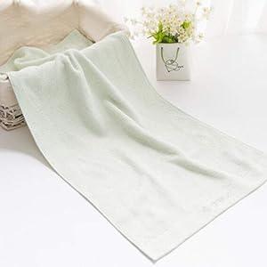 DABAI Towels-Comfortable Household Absorbent Towels, Bamboo Charcoal Bamboo Fiber Towels, Bathroom Fade-Proof Hand Towels (Color : Light Green)