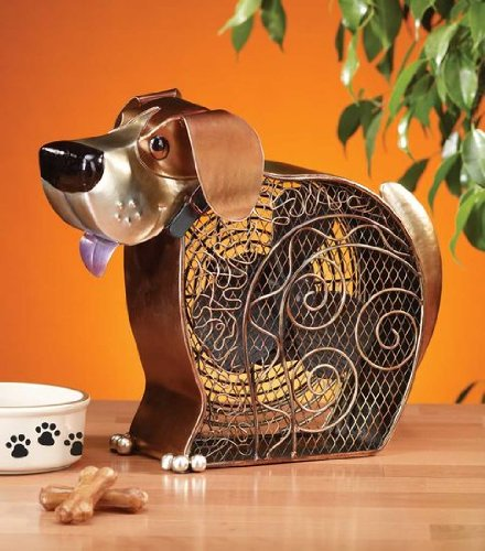 DecoBREEZE Decorative Table Fan, Desk Fan, Two Speed Electric Tabletop Fan, Figurine Fan, 7 inch, Dog