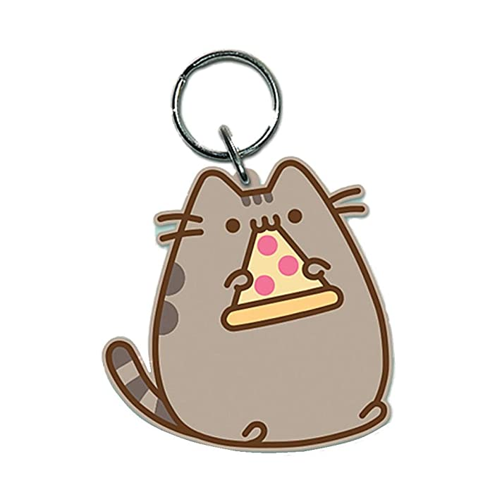 Amazon.com: Llavero de goma Pusheen con diseño de gato: Shoes