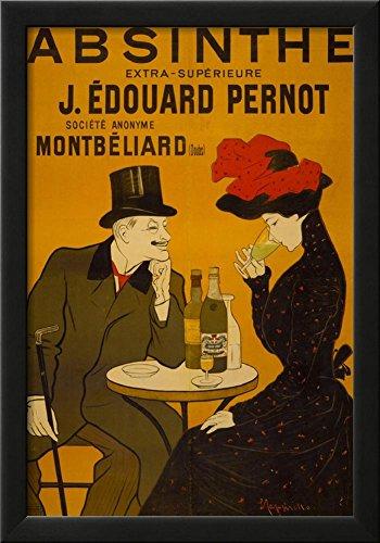 Liquor Art Poster (Absinthe Liquor Vintage Ad Poster Print Framed Poster 15 x 21in)