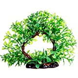 Plastic Fish Tank Plants Realistic Artificial Aquarium Plants Water Plant for Aquariums Decorations,6.5 Inch Tall Green