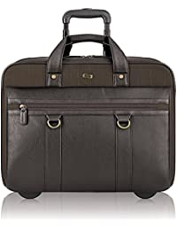 Macdougal 17.3 Inch Rolling Laptop Case, Brown