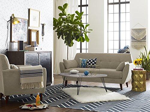 "23 Best Beige Living Room Design Ideas For 2019: Elle Decor 61"" Mid-Century Modern Amelie Loveseat In Beige"
