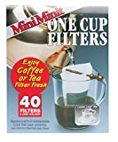 40 cup coffee filters - Mini Minit Coffee Filter, Number 1-Size, 1-Cup Capacity, 40 Filters and 1 Holder