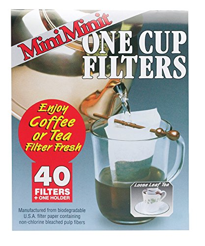 Mini Minit Coffee Filter, Number 1-Size, 1-Cup Capacity, 40 Filters and 1 Holder