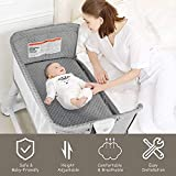 BABY JOY Baby Bedside Crib, 2 in 1 Height & Angle
